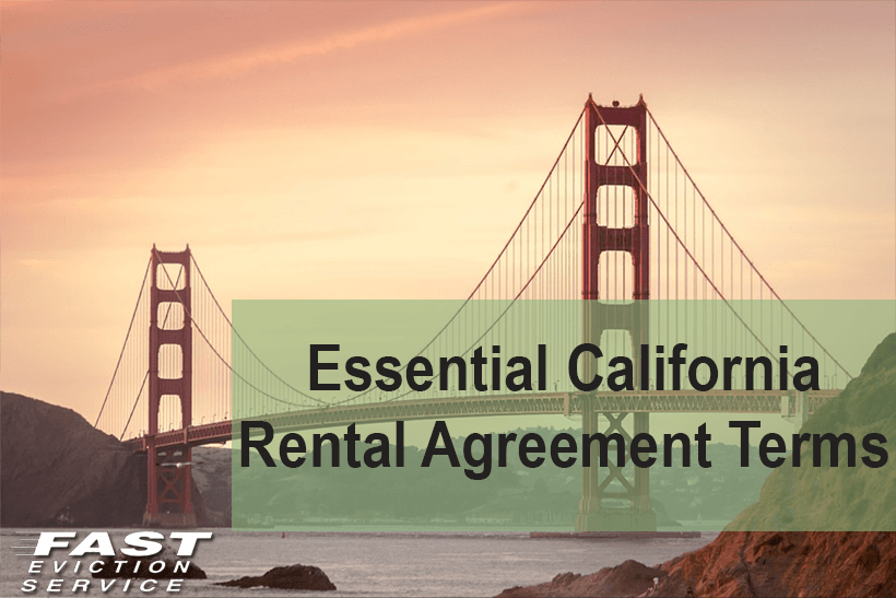 Essential California Rental Agreement Terms Fast Evict