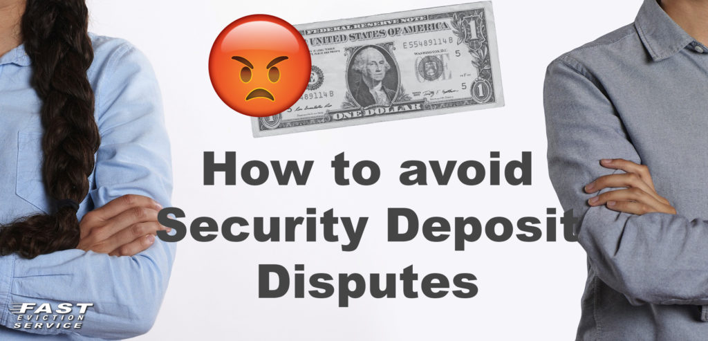how to avoid security deposit disputes