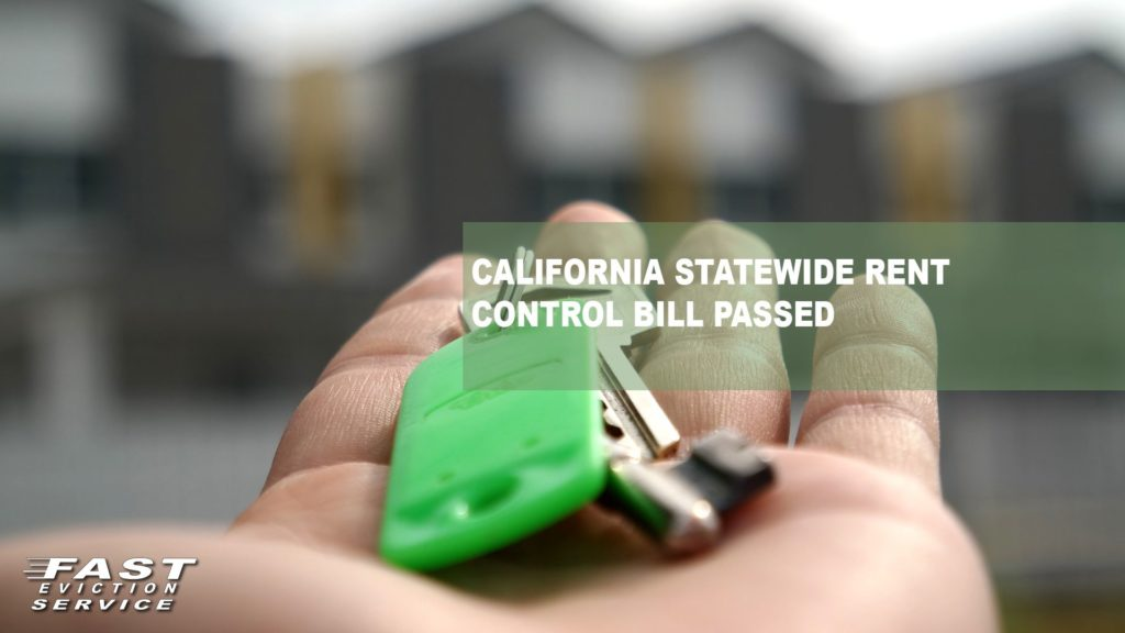 California Statewide Rent Control Bill Passed