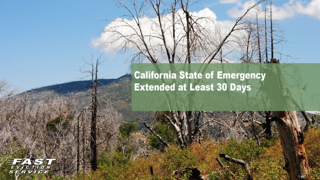 California State of Emergency Extended at Least 30 Days
