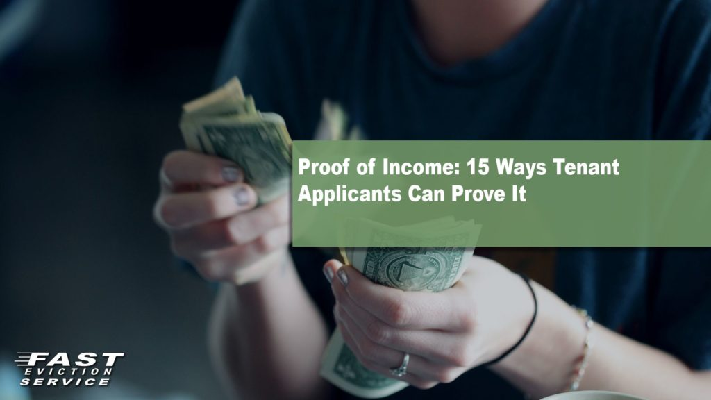 Proof of income: 15 ways tenant applicants can prove it