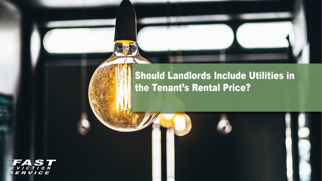 Should Landlords Include Utilities in the Tenant's Rental Price?