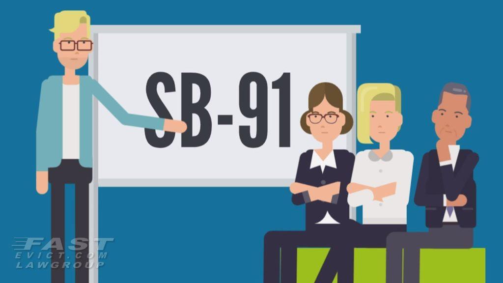 SB91 rent relief landlord checklist