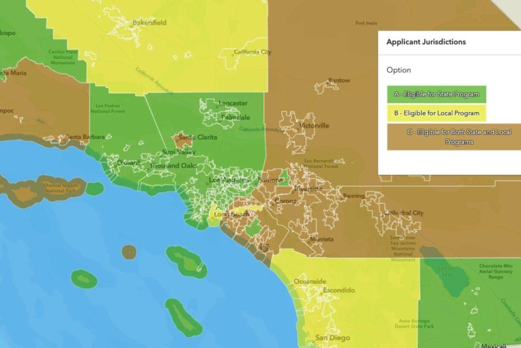 California rent relief program jurisdiction